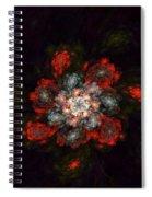 Fractal Floral 02-12-10-a Spiral Notebook