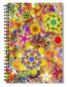 Fractal Floral Study 2 Spiral Notebook
