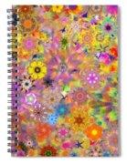 Fractal Floral Study 3 Spiral Notebook