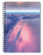 Fractal Glacier Landscape Spiral Notebook