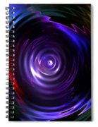Fractal Lake Spiral Notebook
