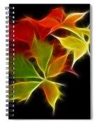 Fractal Leaves Spiral Notebook