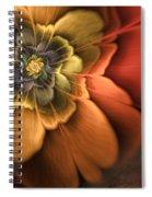 Fractal Pansy Spiral Notebook