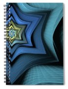 Fractal Star Spiral Notebook
