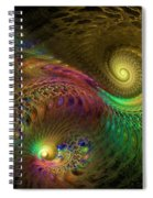 Fractal Swirls Spiral Notebook