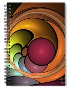 Fractal With Orange, Yellow And Red Spiral Notebook