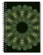 Fractal Wreath-32 Spring Green T-shirt Spiral Notebook