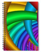 Fractalized Colors -9- Spiral Notebook