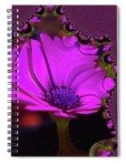 Fractual Flower  Spiral Notebook