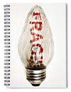 Fragile Light Bulb Spiral Notebook