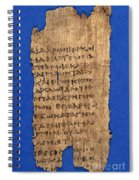 Fragment Of Hippocratic Oath, 3rd Spiral Notebook