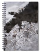 Fragmented Ice Spiral Notebook