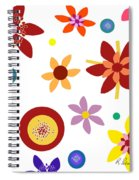 Fragrant Folly White Spiral Notebook