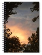 Framed Fire In The Sky Spiral Notebook