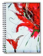 Framed Scribbles And Splatters On Canvas Wrap Spiral Notebook