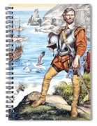 Francis Drake And The Golden Hind Spiral Notebook