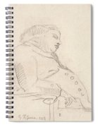 Francis Grose Asleep In A Chair Spiral Notebook