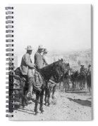 Francisco Pancho Villa (1878-1923). Mexican Revolutionary Leader. Photographed While Reviewing Troops, C1914 Spiral Notebook