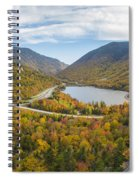 Franconia Notch Autumn View Spiral Notebook