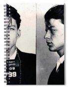 Frank Sinatra Mug Shot Horizontal Spiral Notebook