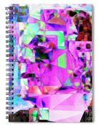 Frankenstein In Abstract Cubism 20170407 Square Spiral Notebook