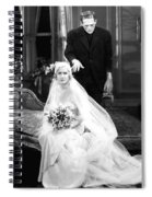 Frankenstein Monster Sneaks Up On Bride 1931 Movie Spiral Notebook
