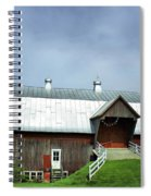 Franklin Barn By The Lake Spiral Notebook
