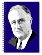 Franklin D. Roosevelt Grayscale Pop Art Spiral Notebook