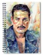Freddie Mercury Portrait Spiral Notebook