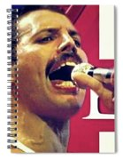 Freddie Mercury, Queen Spiral Notebook