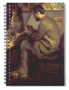 Frederic Bazille Painting The Heron 1867 Spiral Notebook