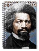 Frederick Douglass And Emancipation Proclamation Painting In Color  Spiral Notebook