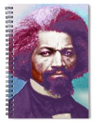 Frederick Douglass Painting In Color Pop Art Spiral Notebook