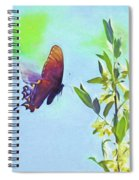 Free To Fly - Butterfly In Flight Spiral Notebook