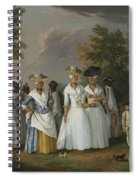 Free Women Of Color With Their Children And Servants In A Landscape Spiral Notebook