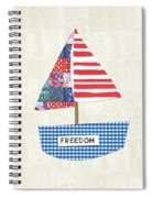 Freedom Boat- Art By Linda Woods Spiral Notebook