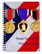 Freedom Is Never Free Spiral Notebook
