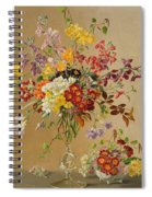 Freesias And Primroses Spiral Notebook