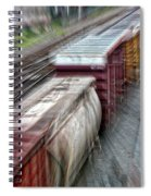 Freight Train Abstract Spiral Notebook