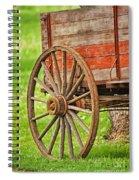 Freight Wagon Wheel Spiral Notebook