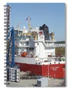 Freighter In Lock Of Saint Lawrence Spiral Notebook