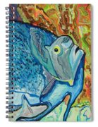 French Angle Fish Spiral Notebook