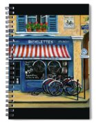 French Bicycle Shop Spiral Notebook