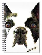 French Bulldog Art - High Contrast Spiral Notebook