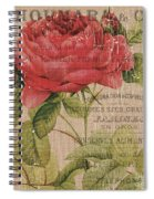 French Burlap Floral 1 Spiral Notebook
