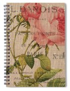 French Burlap Floral 2 Spiral Notebook