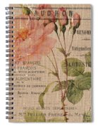 French Burlap Floral 4 Spiral Notebook