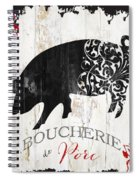 French Farm Sign Piglet Spiral Notebook