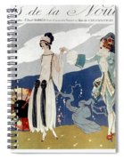 French Fashion Ad, 1923 Spiral Notebook