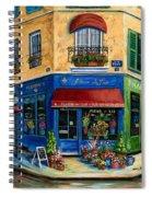 French Flower Shop Spiral Notebook